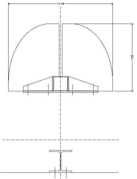 Plan for the ledge placed at the perimeter of the exterior façade.