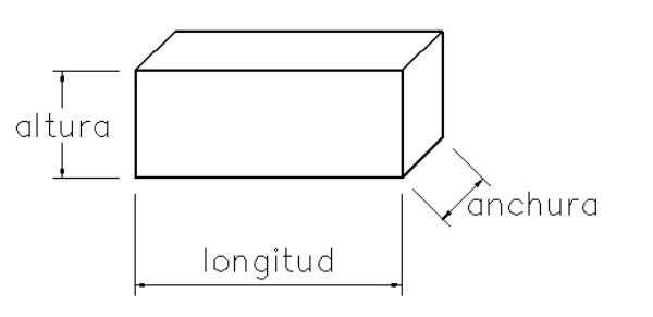 Bordillo recto dimensiones