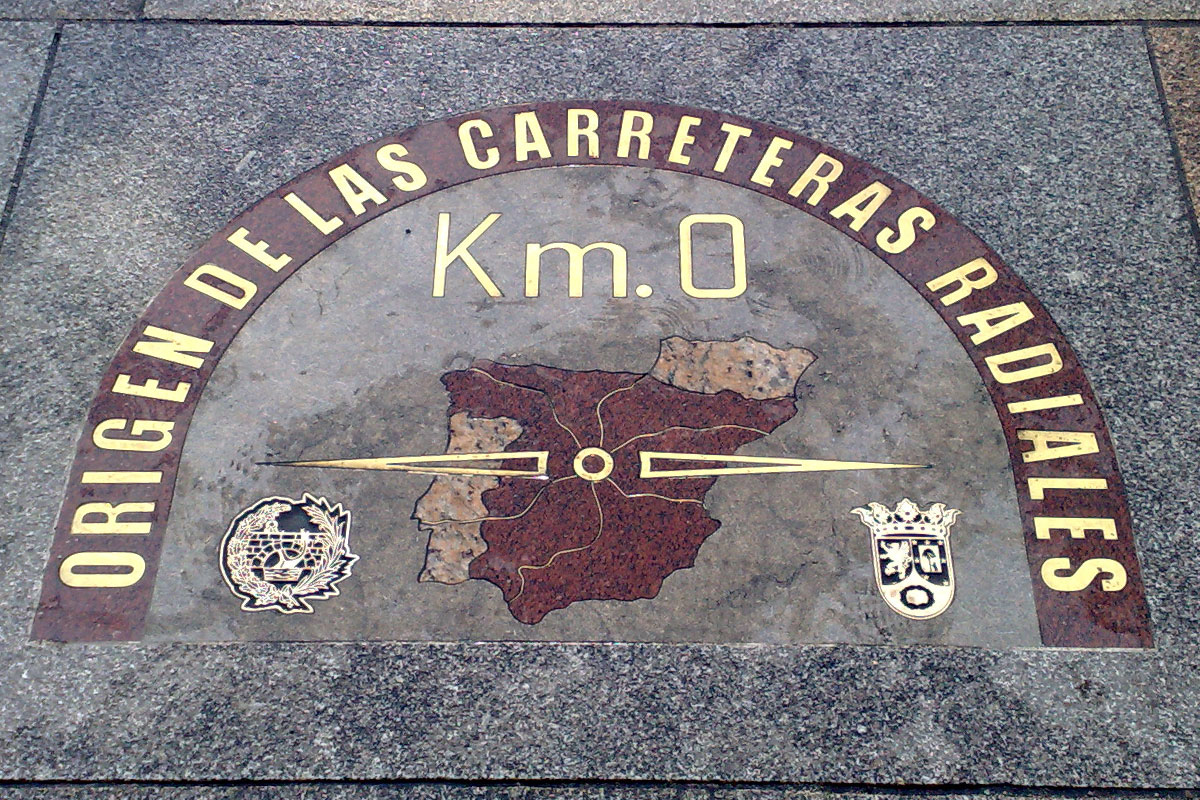 Replacement of the km 0 plate madrid granilouro for Km 0 puerta del sol