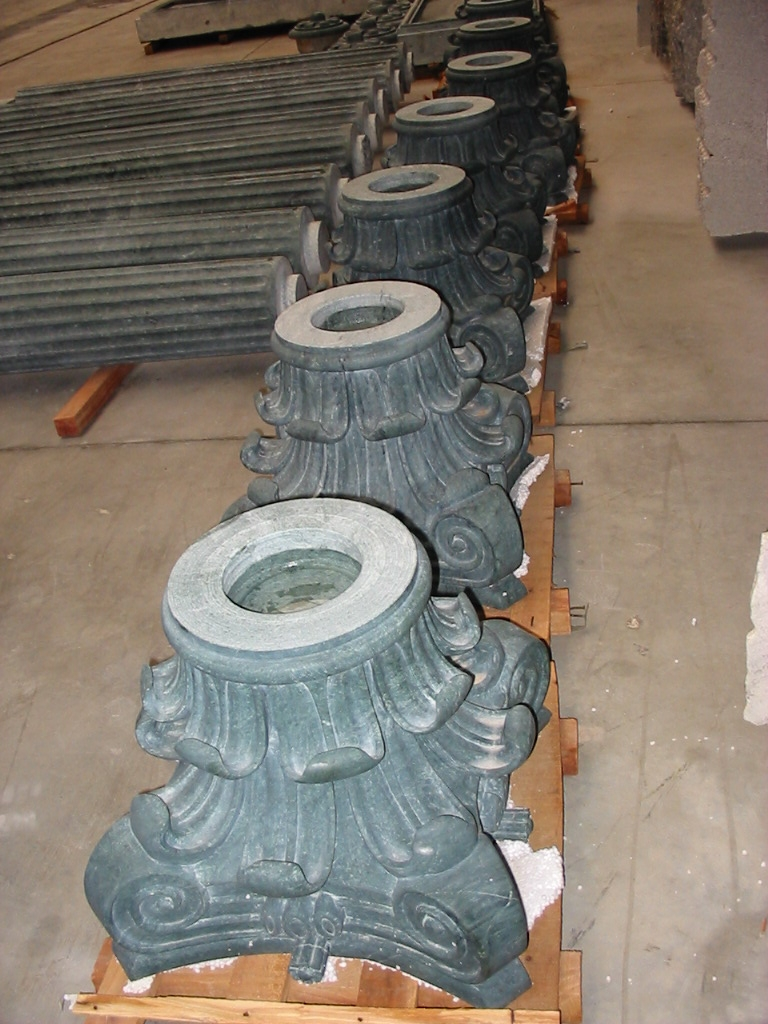 Capitals for columns in green India.