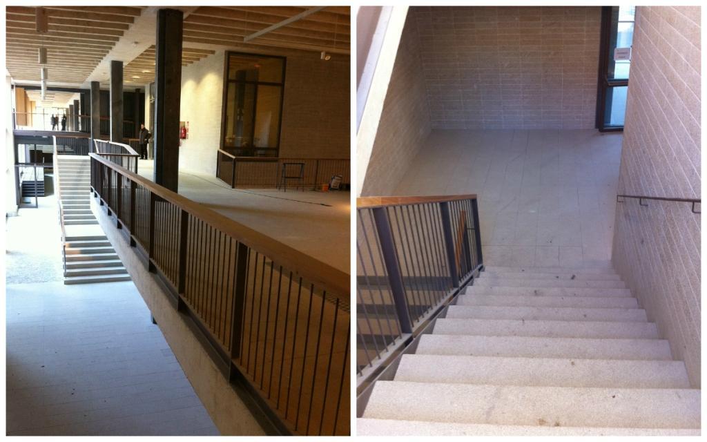 Interior granite stairs