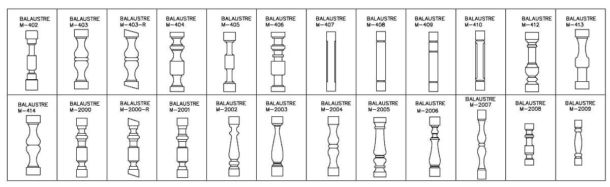 Some models of balusters