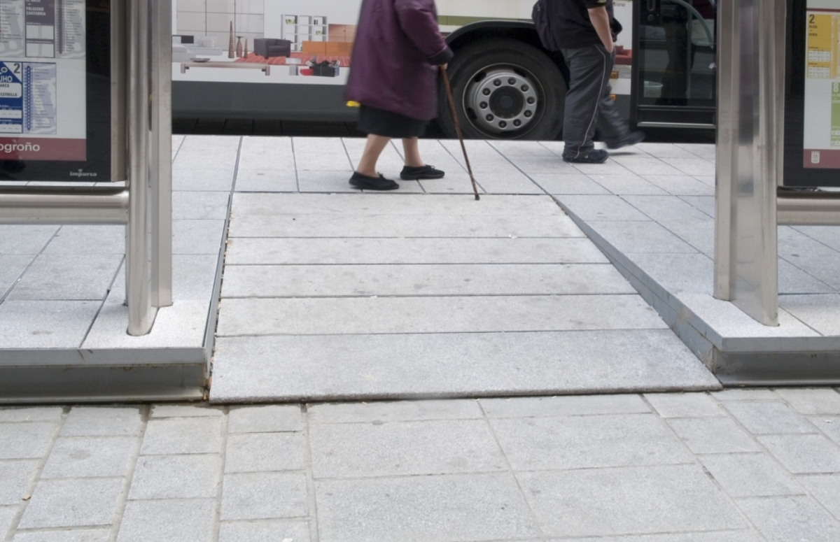 Access ramp for disabled people.